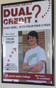 Your write-in candidate... Senior Colin Hislop wants to make a difference in the school and brings his previous council experience with him.