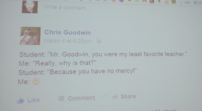 We Will Miss You Mr. Goodwin! Story By: Dave Dowel