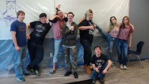 Students helped with the Mr. Goodwin Room first period – Photo by Dave Dowel