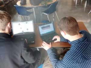 A++… Andrew and Brandon are hard at work hoping to develop a class around their project.