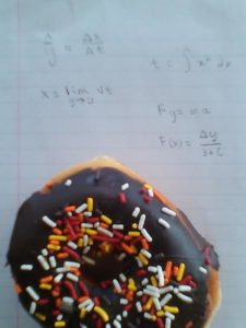 Donuts and math…to a topologist, a great combination. Photo by: John Holmes.