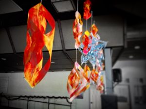 What is Color with no Purpose?...The Student Council made beautiful, large, and vividly colored decorations that shall never be used…unless Fire and Ice makes a comeback. Photo by Lauren Stidham