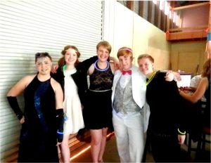Hanging with friends… Over 70 students attended prom this year, many of them together