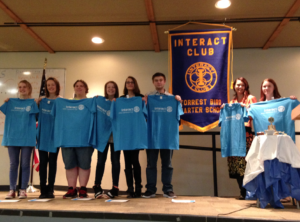 We're official!... Last year saw the Interact Club officially chartered. Photo by Suesan Roth.