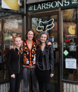 Halloween at Larsons… Larsons now manager infront of the Larsons Sandpoint store during Halloween. Photo By: Kai Eagley